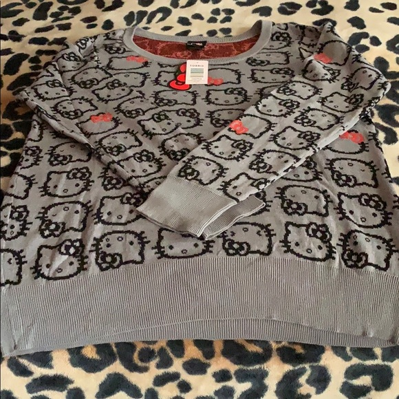 torrid Sweaters - BNWT Torrid Hello Kitty Grey Long Sleeve Sweater